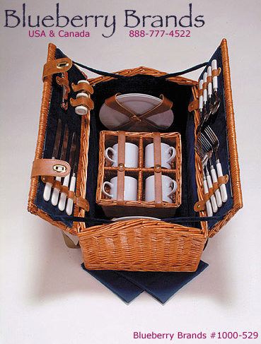 Picture of Avalon Class Hand Made Deluxe 4 Person Picnic Basket