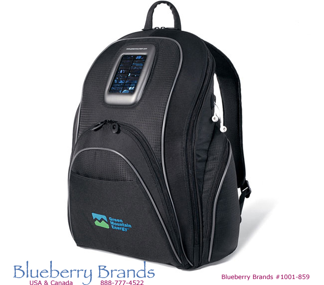 Picture of Reactor Solar Computer Backpack, Promotional Logo Reactor Solar Computer Backpack