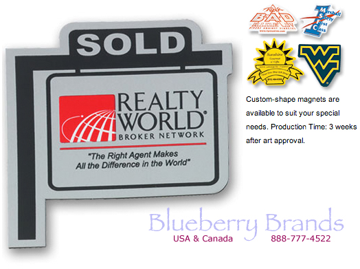 Picture of Flexible Refrigerator Magnets, Promotional Logo Flexible Refrigerator Magnets