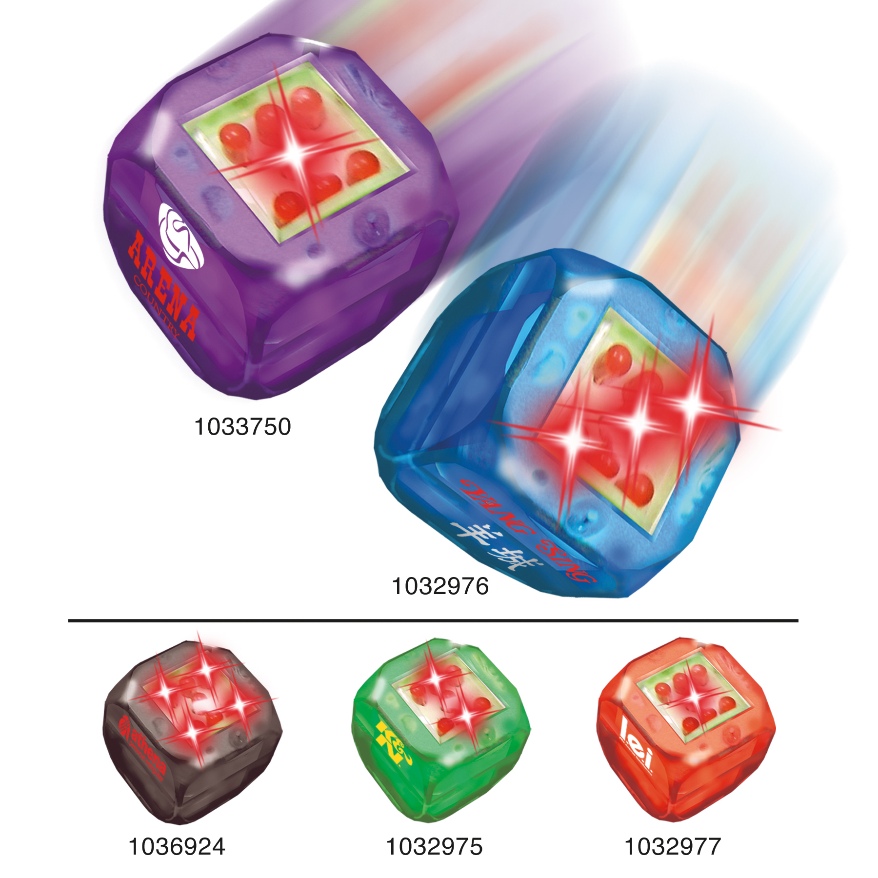 Picture of Electronic Buzdice, Promotional Logo Flashing Dice