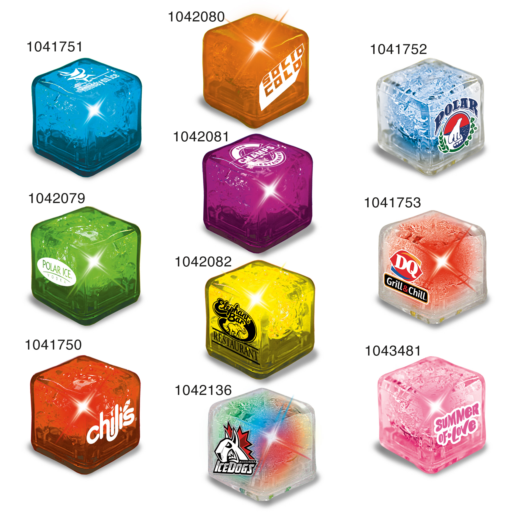 Picture of Ultra Glow Ice Cube, Promotional Logo Ultra Bright Ice Cubes