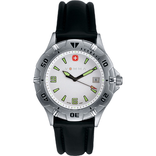 Picture of Wenger Men's Swiss Military Brigade Black Strap Watch, Promotional Logo Men's Brigade Watch