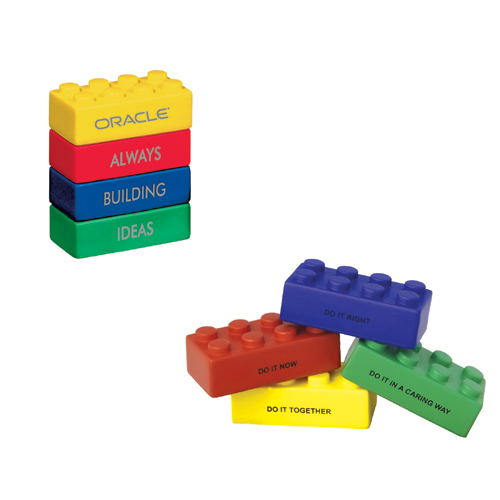 Picture of Icon Building Block Stress Toy, Promotional Logo Icon Building Block Stress Toy
