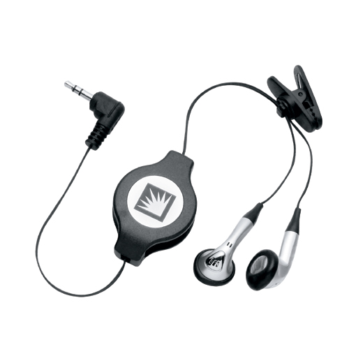 Picture of Retractable Ear Buds, Promotional Logo Retractable Ear Buds