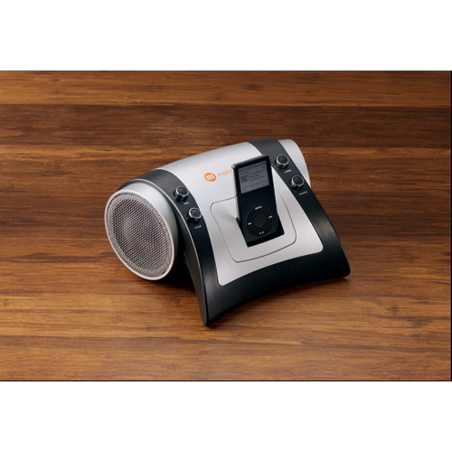 Picture of Sabre Speaker with Universal Docking Station, Promotional Logo Speaker Universal Docking Station