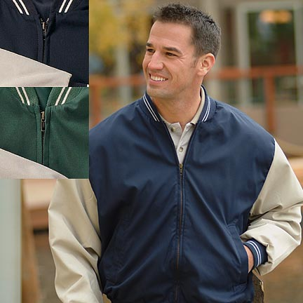 Picture of Poplin Baseball Jacket, Promotional Logo Poplin Baseball Jacket