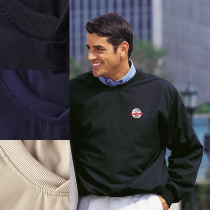 Picture of Poplin Golf Pullover, Promotional Logo Poplin Golf Pullover