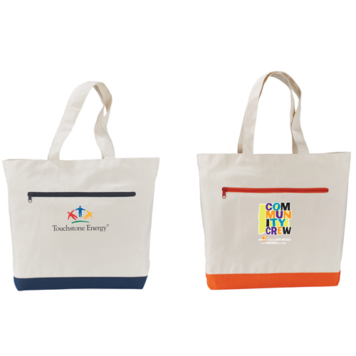 Picture of Spectra Cotton Canvas Shopper Bag, Promotional Logo Cotton Canvas Shopper Bags