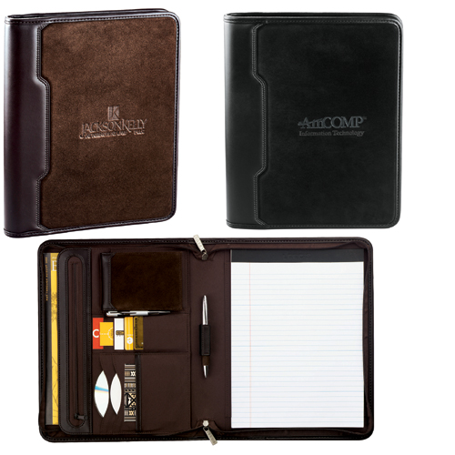 Picture of Sedona Suede Zippered Padfolio