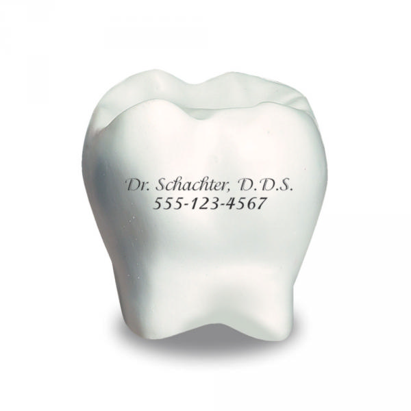 Picture of Tooth Stress Ball, Promotional Logo Tooth Stress Ball