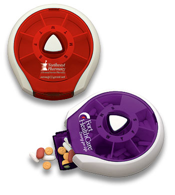 Picture of Press-It Pill Dispenser™, Promotional Logo Press-It Pill Dispenser