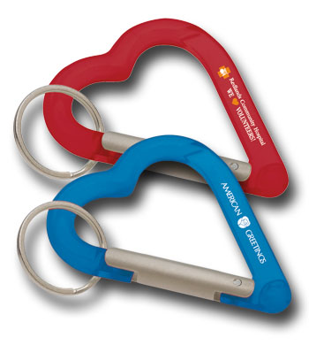 Picture of Heart Carabiner Keyholder, Promotional Logo Heart Carabiner Keyholder