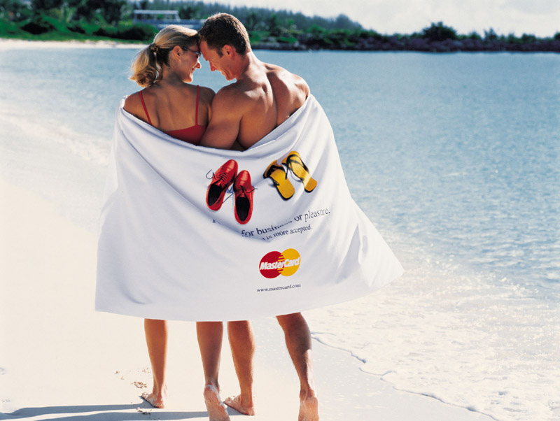 "Picture of Ultra Heavyweight 40"" x 70"" Beach Towel, Promotional Logo Ultra Heavyweight Beach Towel"