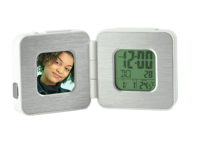 Picture of Travel Alarm Clock/Calendar Digital Photo Frame