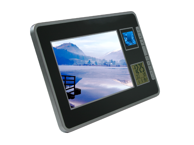 "Picture of Photo Frame with 1.4"" Digital Album and LCD Calendar Clock Display"