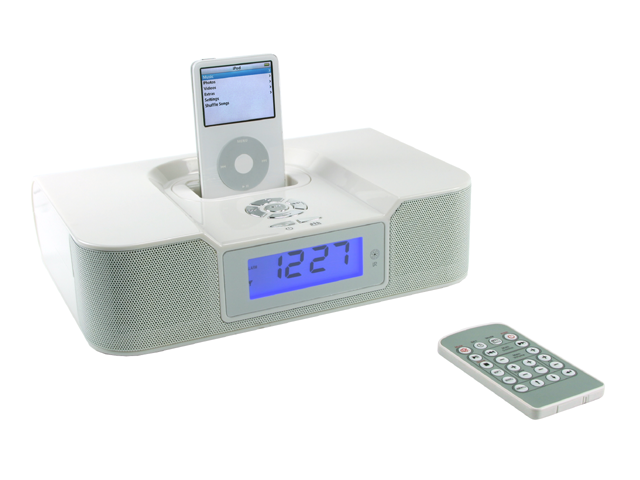 Picture of iPod® Speaker with FM Radio/Alarm Clock, Promotional Logo iPod Speaker