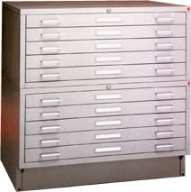 Picture of Archive Designs #STA-34 Steel Flatfiles store large documents easily and safely.