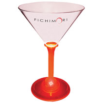 Picture of Promotional light-up martini glass.