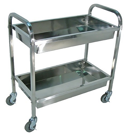Picture of Luxor SST2S – 33 1/2″ Wide Two Tub Stainless Steel Transport Cart