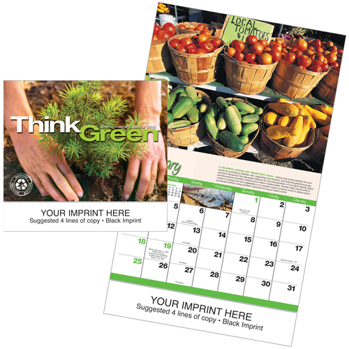 Picture of Think Green Calendar, Promotional Printed Calendar
