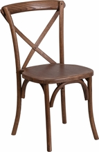 Picture of HERCULES SERIES PECAN WOOD CROSS BACK CHAIR