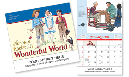 Picture of Norman Rockwell's Wonderful World Calendar, Promotional Logo Wonderful World Calendar