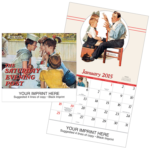 Picture of The Saturday Evening Post Calendar, Promotional Logo Saturday Evening Post Calendar