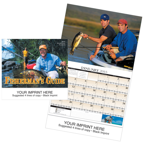 Picture of Fisherman's Guide Calendar, Promotional Logo Fisherman's Guide Calendars