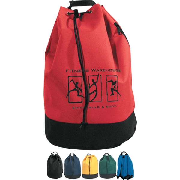 Drawstring Backpack, Promotional Logo Shoreline Drawstring Backpack