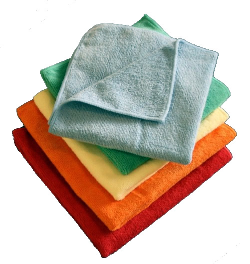 Picture of Microfiber Cleaning Cloths - 16 x 16 - BULK PACK - Red