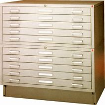 Picture of Archive Designs #MTA-34 Museum Flatfiles store large documents with extra security in mind.