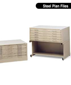 Picture of Mayline Steel Flatfiles store large documents easily and safely.
