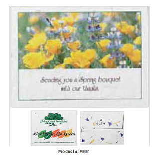 Picture of Floral seeded business to business card.