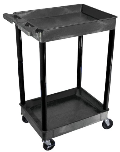 "Picture of The Luxor STC11 two shelf utility cart 18""W x 24""L x 38-1/2""H."