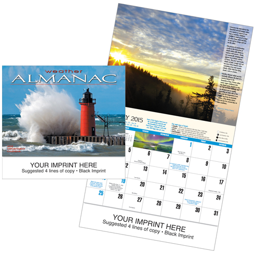 Picture of Weather Almanac Calendar, Promotional Logo Weather Calendar