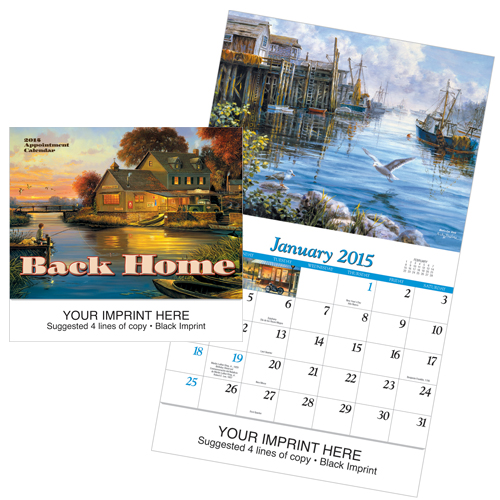 Picture of Back Home Calendar, Promotional Logo Back Home Calendars Copy