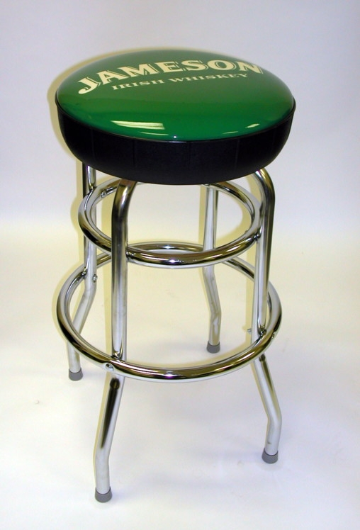 Picture of Upholstered Logo Double Ring Stool, Logo Upholstered Double Ring Stool