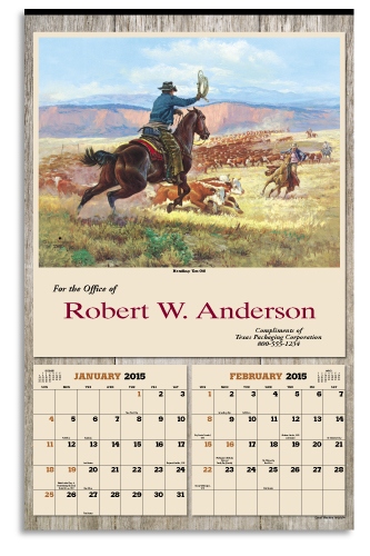Picture of Art of the West Calendar, Promotional Logo Art of the West Six Sheet Calendar