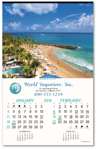 Picture of World Traveler Calendar, Promotional Logo World Traveler Calendar, World Travel Six Sheet Calendar