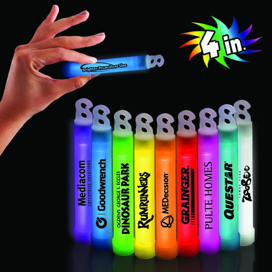 "Picture of 4"" Premium Glow Stick, Promotional Logo 6"" Premium Glow Stick"
