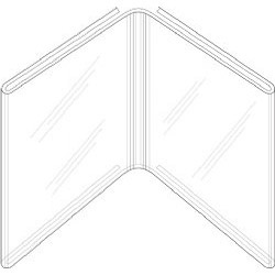 "Picture of 4""w x 6""h Clear Styrene Book Style Table Tent"