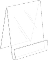 Picture of Slant Back Open End Easel Desk Top Literature Display