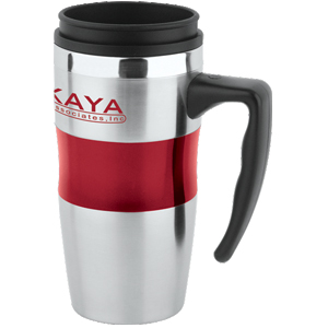 Picture of 16 oz Stainless / Acrylic Big Grip Mug with Plastic Lid