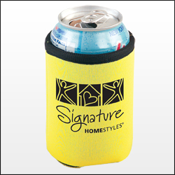 Picture of Trimmed Can Holder, Promotional Logo Trimmed Can Holders