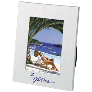 Picture of 4 x 6 Stainless Steel Frame, Promotional Logo 4 x 6 Stainless Steel Frame