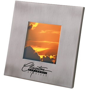 "Picture of 3"" x 3"" Brushed Frame, Promotional Logo 3"" x 3"" Brushed Frame"