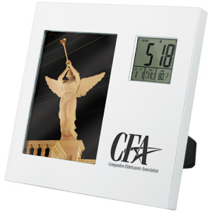 "Picture of 3-1/2"" x 5"" Photo Frame Rotating Clock"