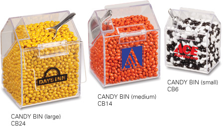 Picture of Medium Acrylic Candy Bin, Promotional Logo Medium Acrylic Candy Bin