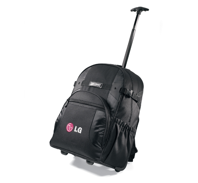 Picture of Deluxe Wheeled Computer Backpack, Promotional Logo Deluxe Wheeled Computer Backpack
