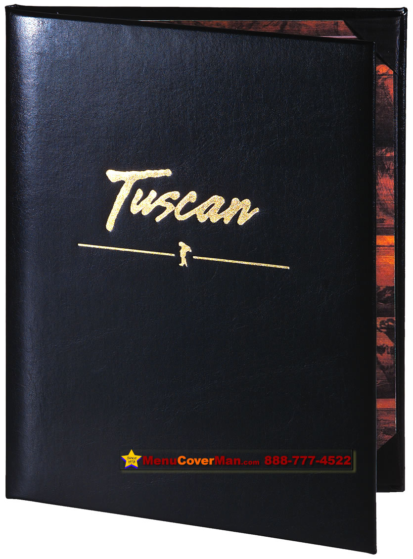 Menucoverman.com #TUXEDO-LEATHER-6V-8.5X11 - 6 view.